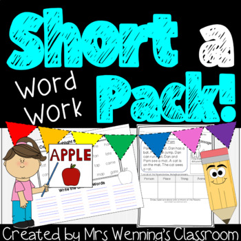Short Vowel Aa - A Complete Week of Lesson Plans, Word Work, and Activities!