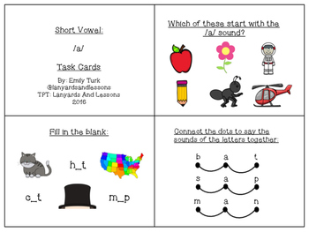 Short Vowel: A Task Cards