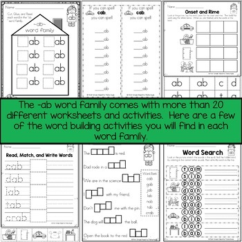 Word Family AB Short Vowel A