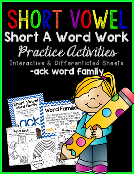 Short Vowel A Word Work {-ack Word Family} FREEBIE