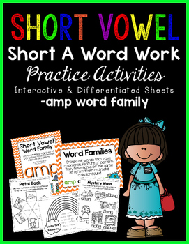 Short Vowel A Word Work {-amp Word Family}