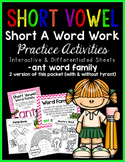 Short Vowel A Word Work {-ant Word Family}