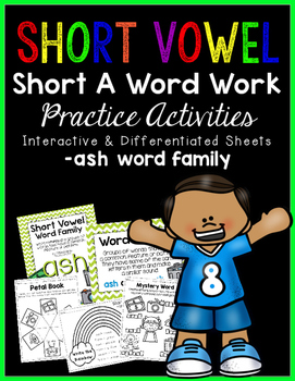 Short Vowel A Word Work {-ash Word Family}