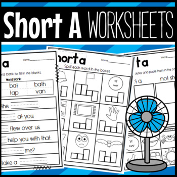 Short Vowel A Worksheets:  Sorts, Cloze, Read and Draw, and More