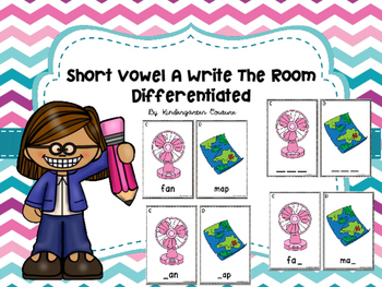Short Vowel A Write The Room -Differentiated
