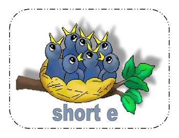 Short Vowel A and E Picture Sort: File Folder Activity