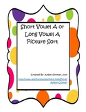 Short Vowel A or Long Vowel A Picture Sort