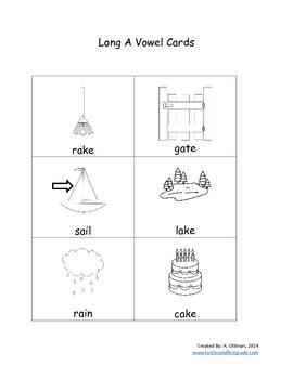 Short Vowel A or Long Vowel A Picture Sort