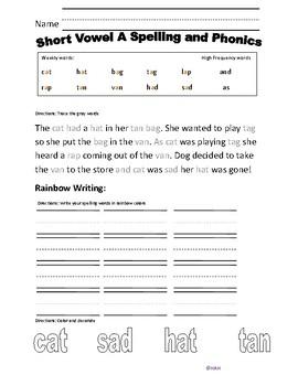 Short Vowel A phonics bundle