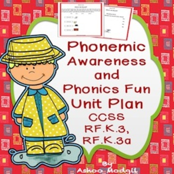 Phonics CVC Printables and Lesson Plan