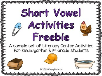 Short Vowel Activities Freebie