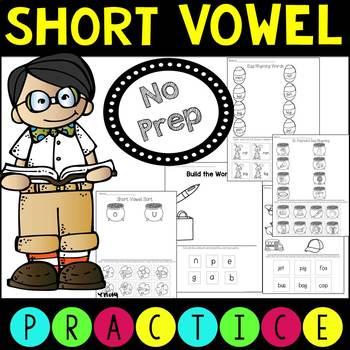 Short Vowel Activities Seasonal Growing Bundle