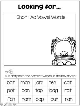 Short Vowel Activities and Games!