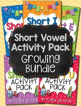 Short Vowel Activity Pack GROWING BUNDLE