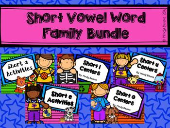 Short Vowel Activity Packs Bundle