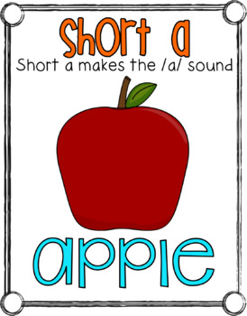 Short Vowel Anchor Charts