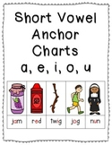 Short Vowel Anchor Charts {Click File, Print}
