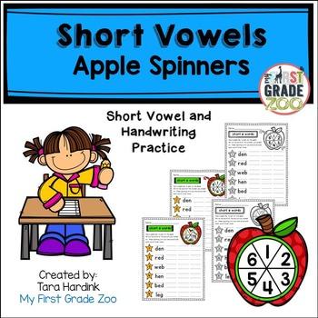 Short Vowel Apple Spinners