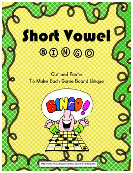 Short Vowel BINGO (Cut & Paste)