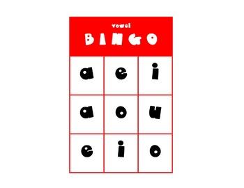 Short Vowel BINGO (9 square)