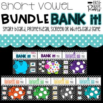 Short Vowel BUNDLE Bank It A Projectable Game
