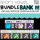 Short Vowel BUNDLE Decoding Words Bank It Digital Projectable Game