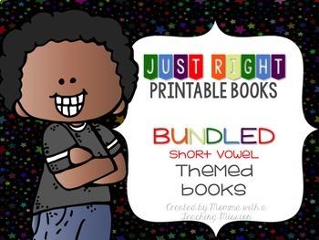 Short Vowel BUNDLED Just Right Printable Books