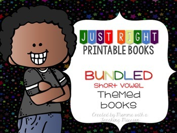 Short Vowel BUNDLED Just Right Printable Books