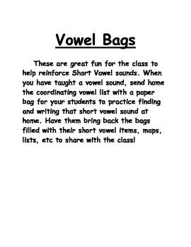 Short Vowel Bags
