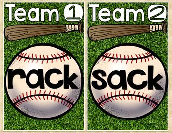 Short Vowel Baseball Bundle