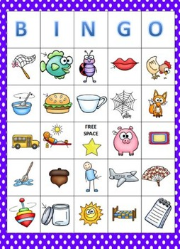 Short Vowels Bingo
