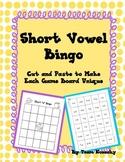 Short Vowel Bingo for Literacy Centers