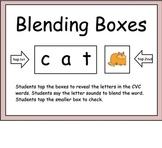Short Vowel Blending Boxes for Smart Board