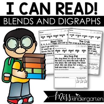 Short Vowel Blends and Digraphs Reading Fluency Passages