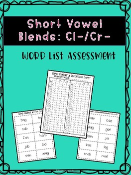 Short Vowel Blends: cl-/cr-