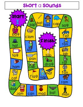 Short Vowel Board Games