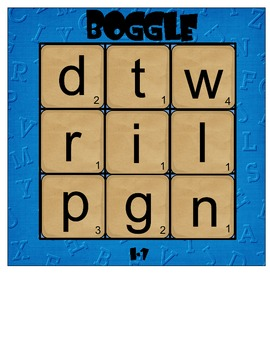Short Vowel Boggle