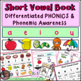 Short Vowel Book Activities Posters Bookmarks DIFFERENTIATED