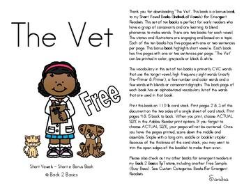 Short Vowel Book - Short Vowel Reader - The Vet
