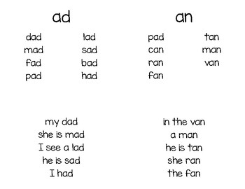 Short Vowel Booklets