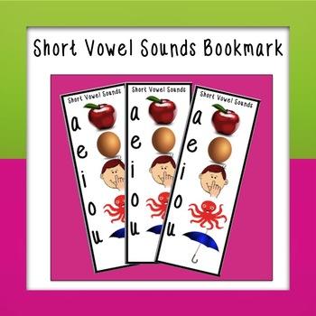 Short Vowel Bookmark