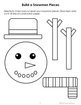 Short Vowel Build a Snowman with Words