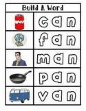 Short Vowel Build a Word Magnet Center Complete Set