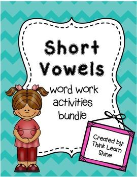 Short Vowel Word Work Activities Bundle