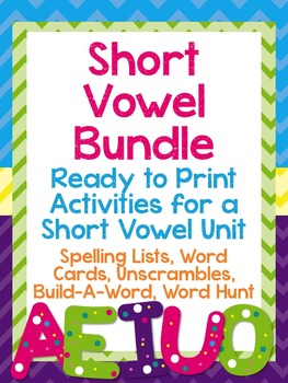 Short Vowel Word Work Bundle