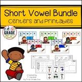 Short Vowel Bundle - Centers and Printables