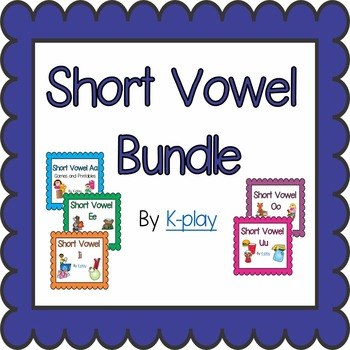 Phonics Short Vowel Bundle - Games and Printables