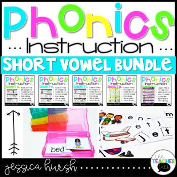 Short Vowel Bundle Phonics Instruction Curriculum