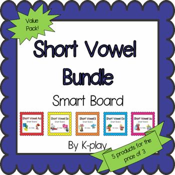 Short Vowel Games and Activities Bundle - Smart Board