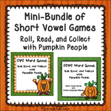 Phonics Short Vowel Word Games with Pumpkin People